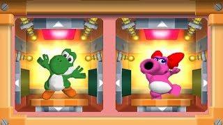 Mario Party 7 - 8 Player Ice Battle # 3 - Yoshi Birdo Mario Luigi All Mini Games (Master CPU)
