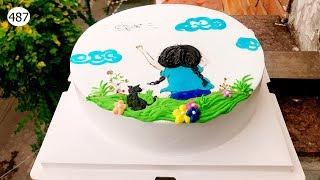 Decorated cakes  - drawing (487) Học Bánh Vẽ Hình Và Nghệ Thuật (487    )