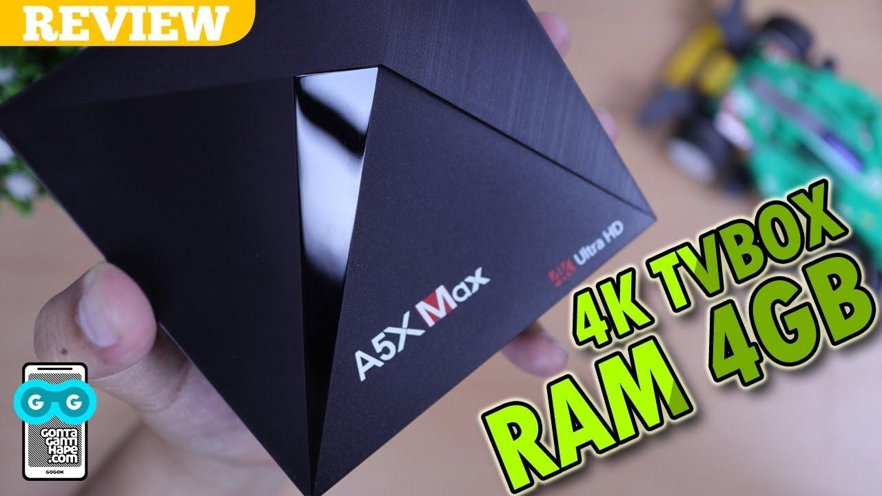 Review A5x Max Tv Box Termurah Yang Support 4k Ram 4 Gb Android Media Player Bisa Pake Modem Usb Quad Core2gb 712
