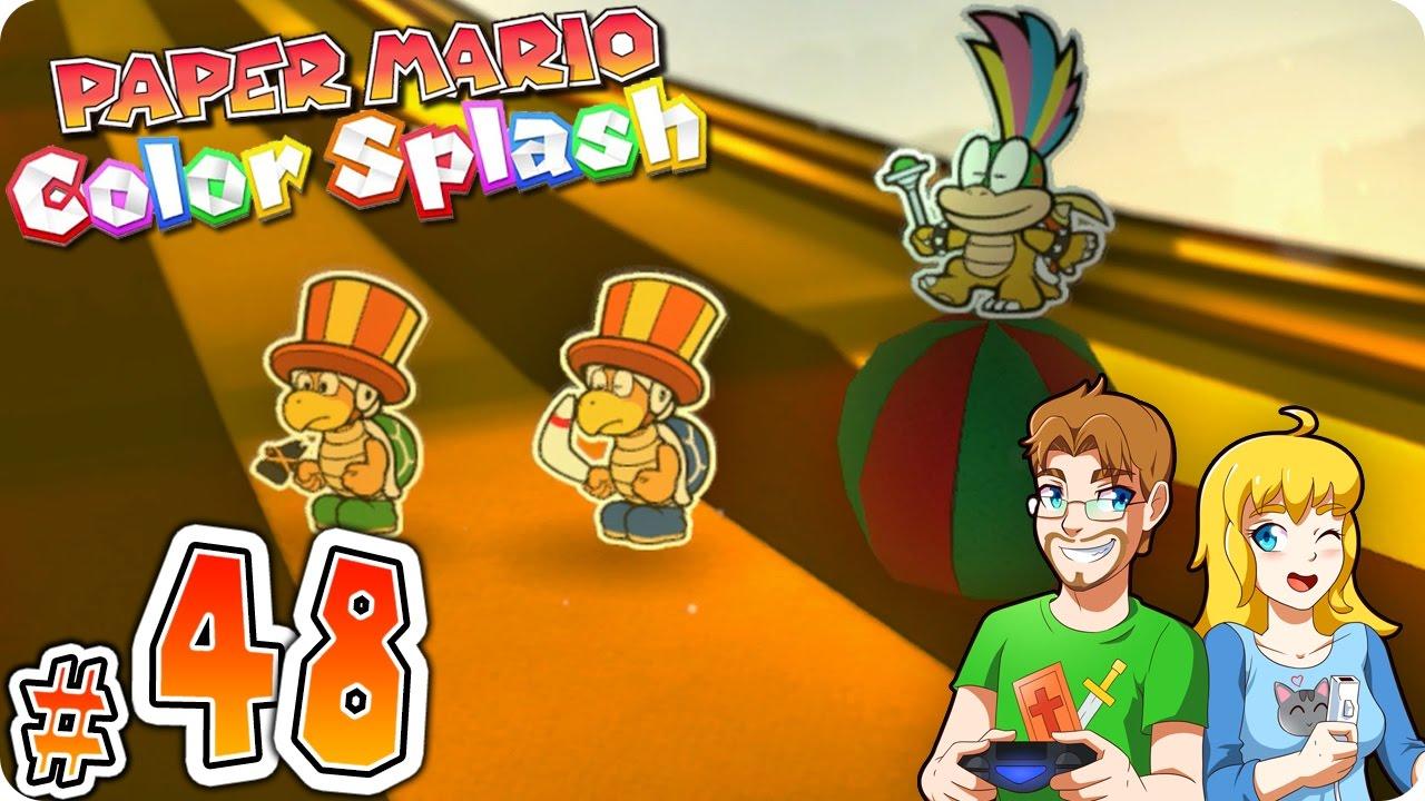 paper mario color splash part 48 lemmy battle