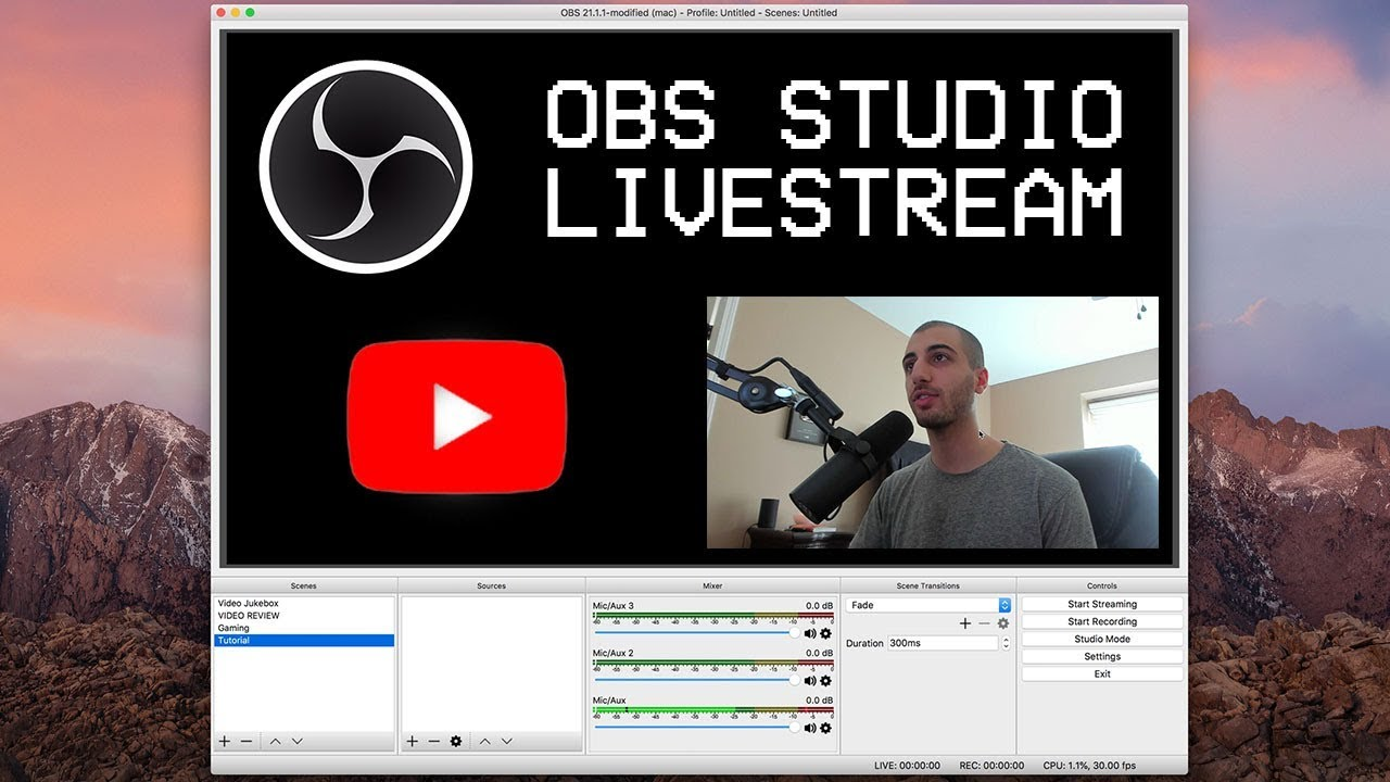 How To Livestream On Youtube With Obs Studio Open Broadcaster