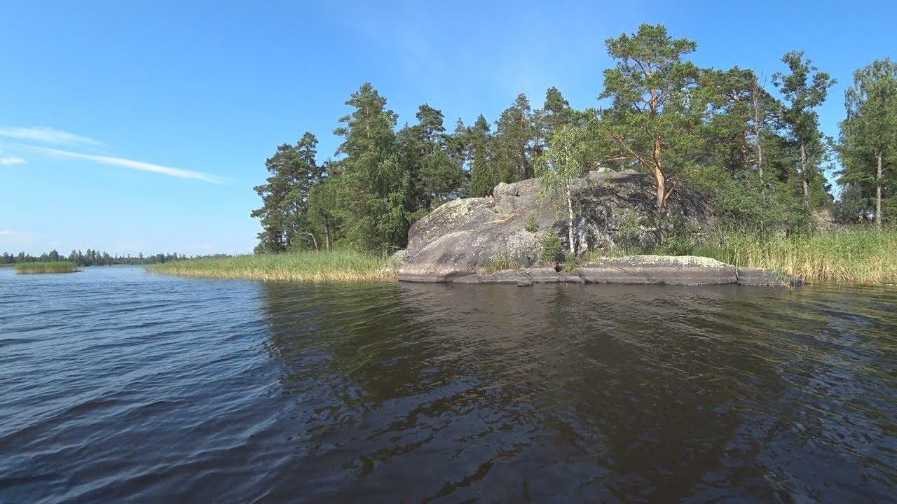 Vuoksa lake, North nature, Islands, Karelia 2018 - Вуокса озеро, все красивейшие острова