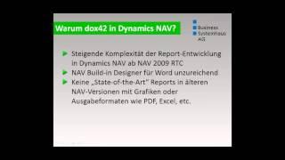 Dokumente intelligent generieren in Microsoft Dynamics NAV mit dox42