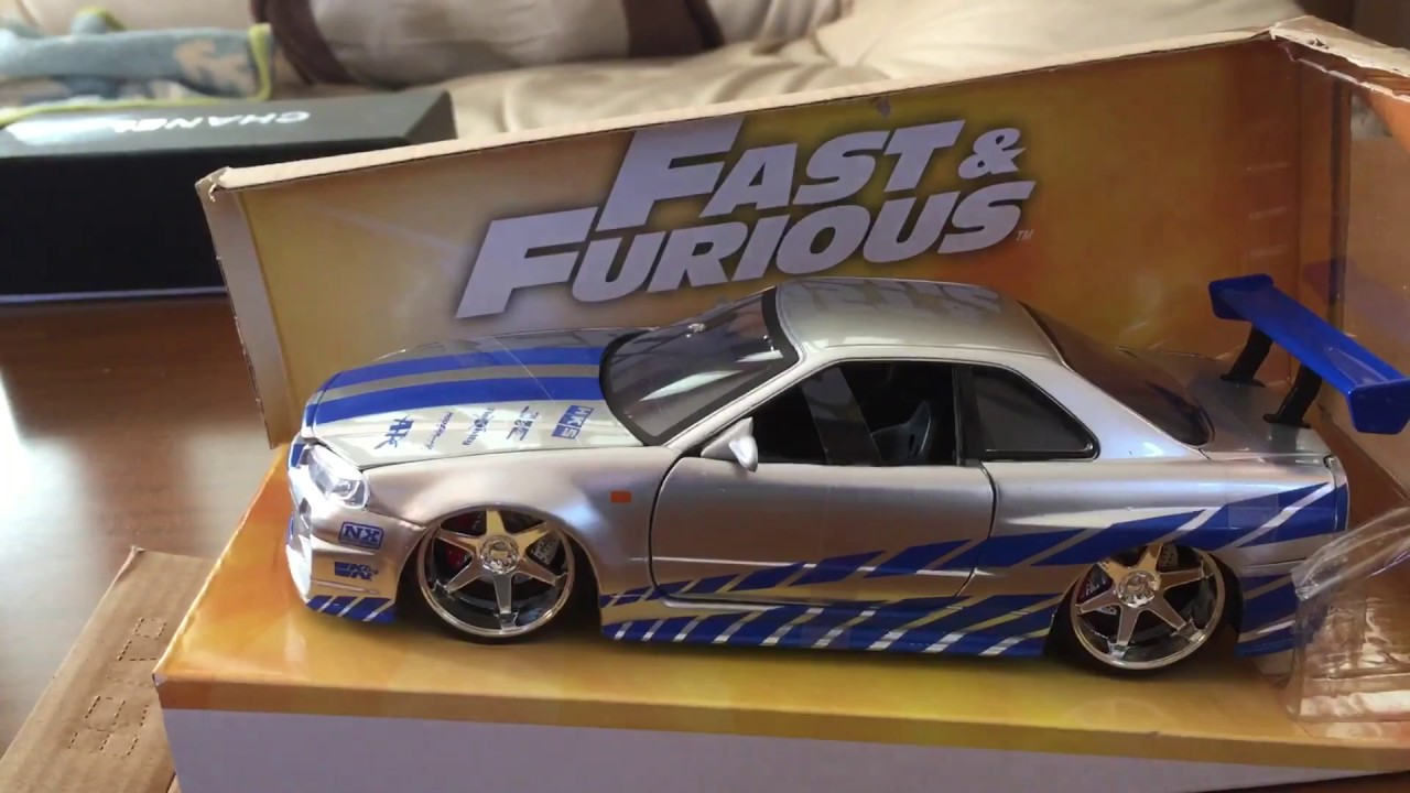 1:24 JADA FAST AND FURIOUS 7 BRIAN/'S 1999 NISSAN SKYLINE GT R R34 VEHICLE TOY