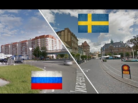 Russia and Sweden. Comparison. Dolgoprudny - Lund.