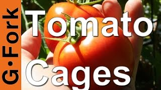 How To Make Tomato Cages : Gardenfork.tv