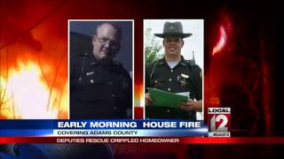 Deputies rescue crippled homeowner from fire