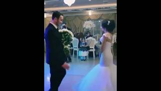 Шикарный букет белых роз для невесты  / Красивая кавказская свадьба 2018