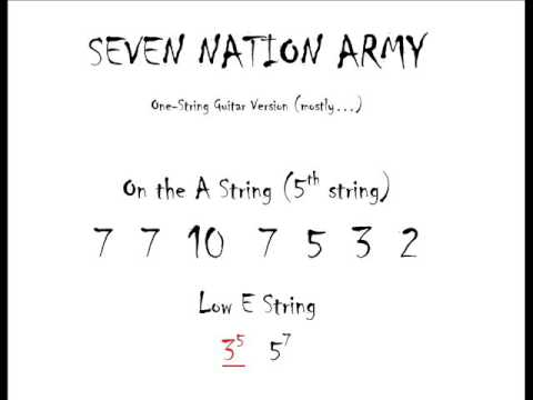 Seven Nation Army play-along video moving chords EASY