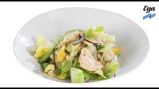 Кубинский салат с курицей и авокадо