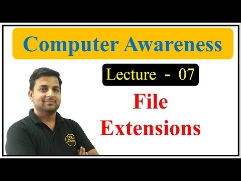 File Extensions - Computer GK in Hindi