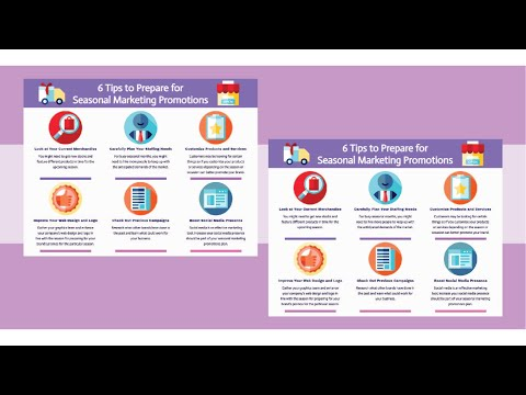 Create Infographic About 6 Tips to Prepare for Seasonal Marketing Promotions