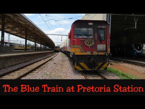 The Blue Train at Pretoria station