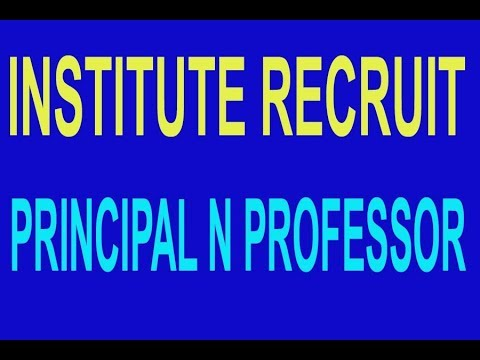 |INSTITUTE||RECRUIT||PROFESSOR| N |PRINCIPAL|