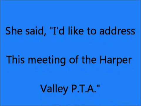 HARPER VALLEY PTA Lyrics(The Best Version On youtube!!)