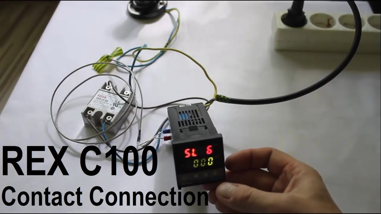 Pid Temperature Controller Kit Wiring Diagram Les Paul Treble Bleed Rex C100 Contact Connection Youtube