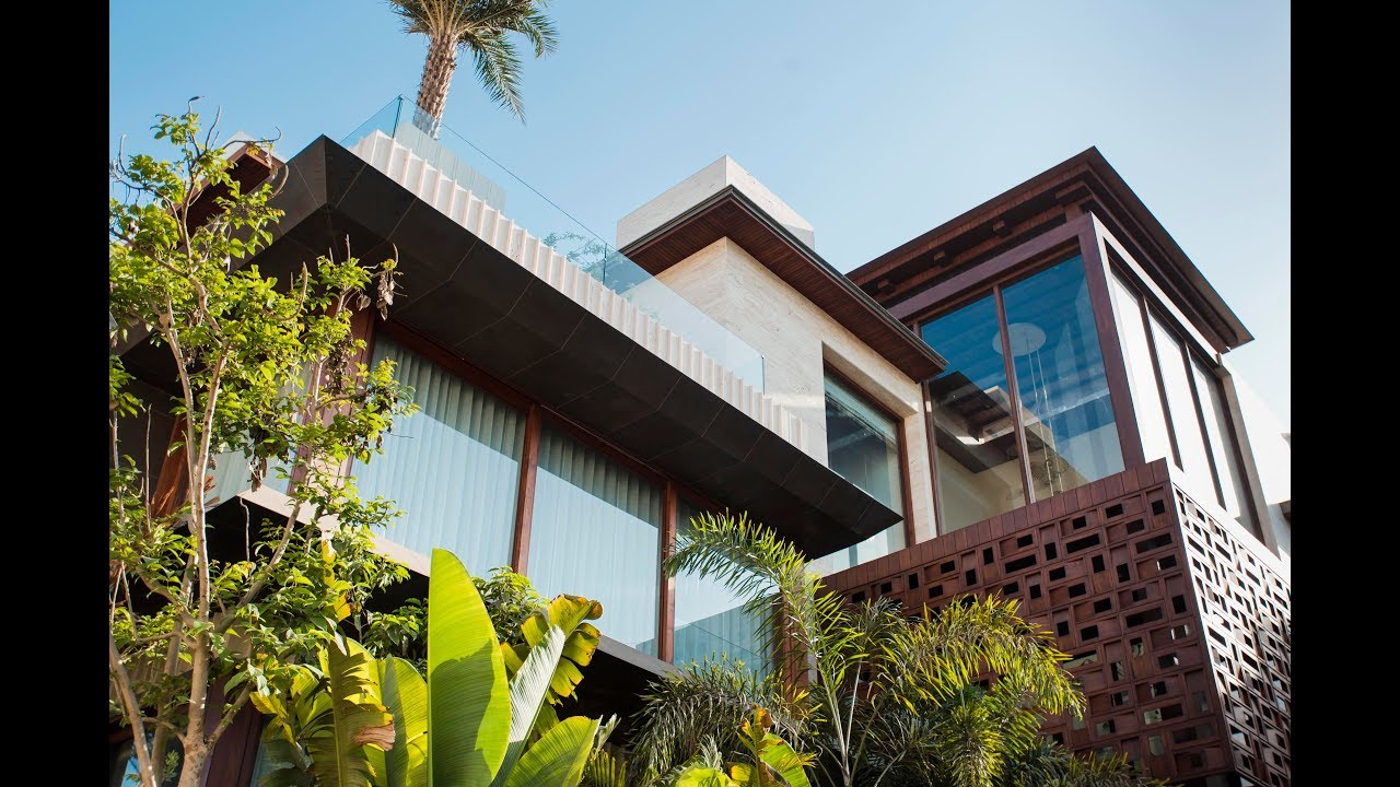 Aerial Foliage House In Surat By Hiren Patel Architects