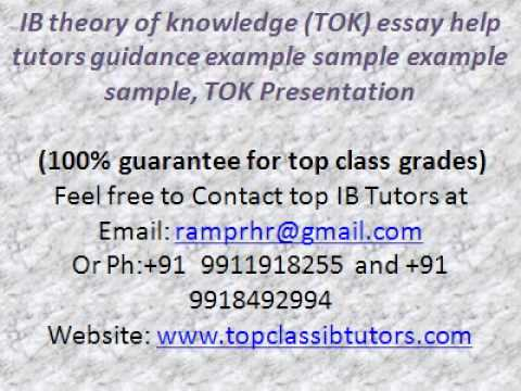 theory of knowledge essay examples