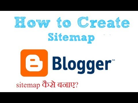 how to generate sitemap for blogger website youtube