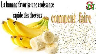 La banane favorise une croissance rapide des cheveux