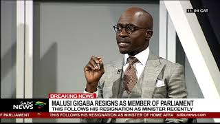 vuclip Malusi Gigaba resigns as Member of Parliament