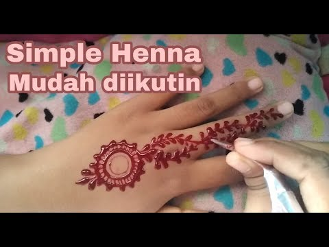 Simple Henna For Hand Mudah Banget Ditiru Youtube