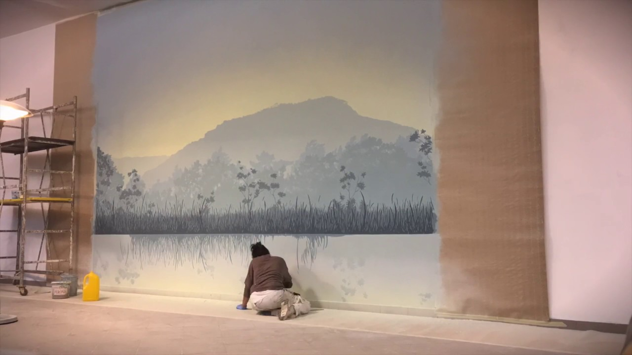 Trompe L Oeil Come Dipingere Un Paesaggio How To Paint A Landscape Time Lapse Youtube