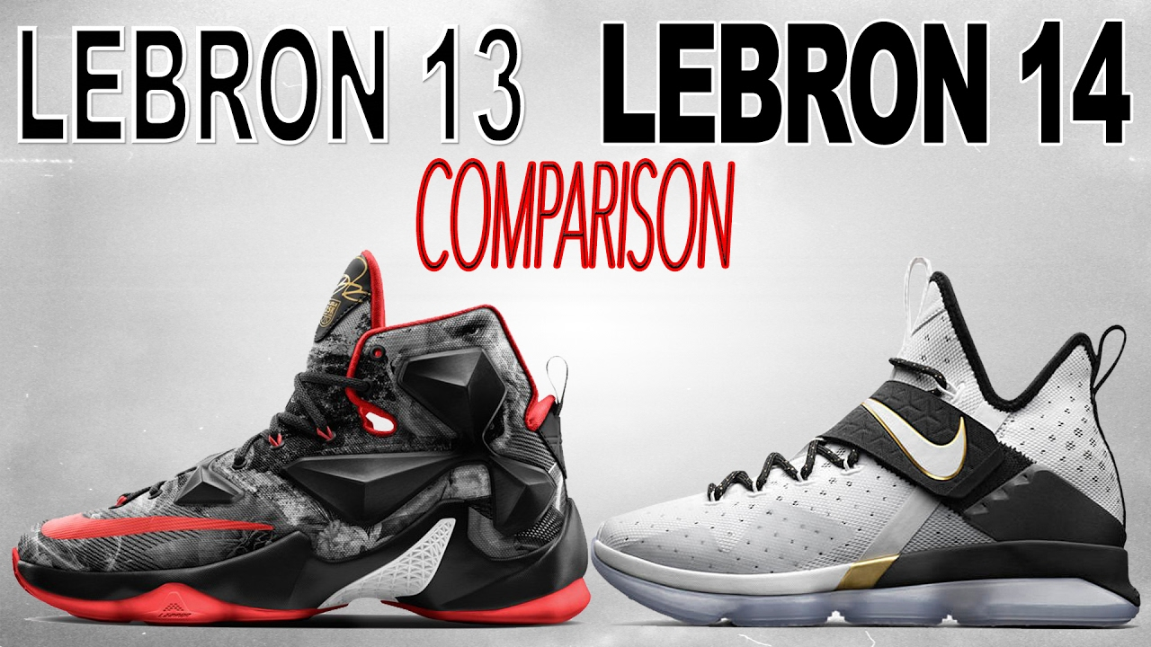 1d28fc539970 Nike Lebron 13   Lebron 14 Comparison! - YouTube