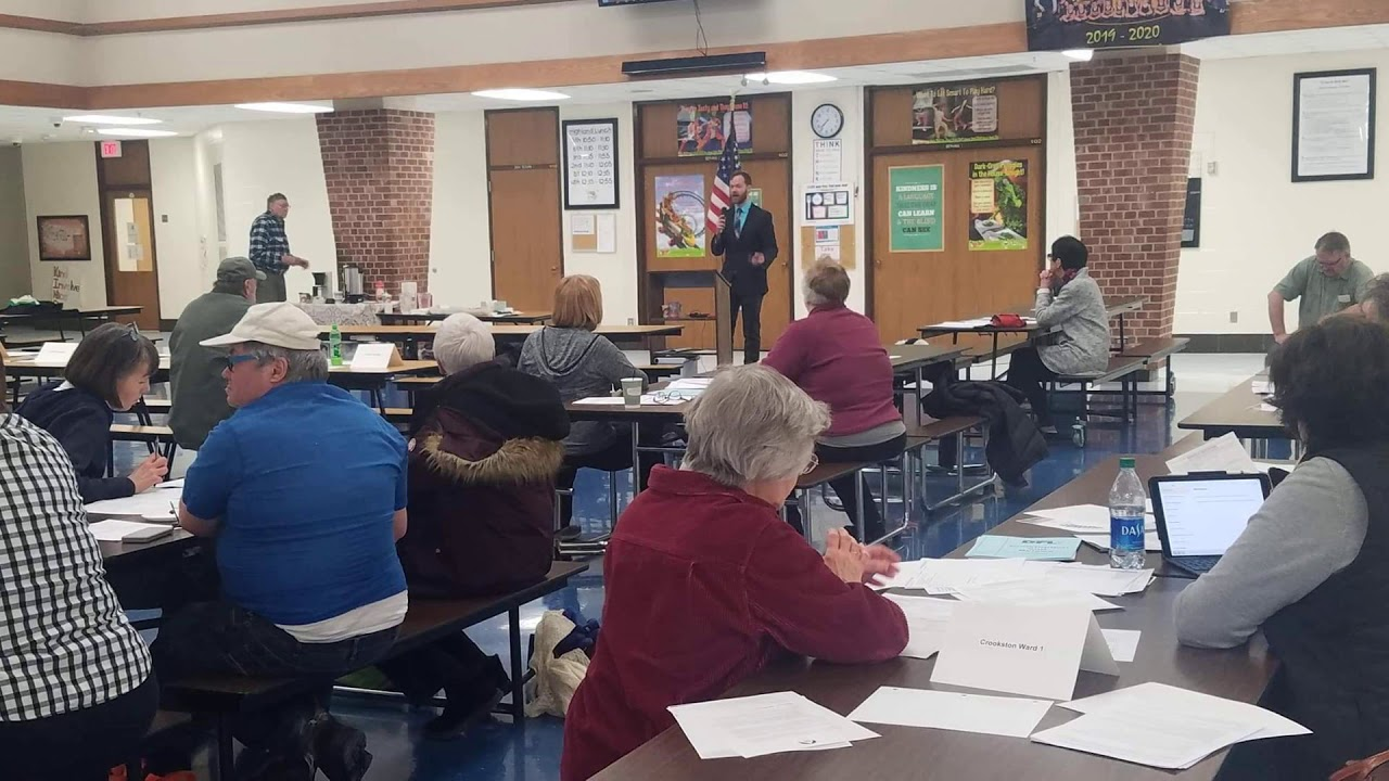 Reed Perkins answers questions at the Fosston Forum on KKCQ(10/19)