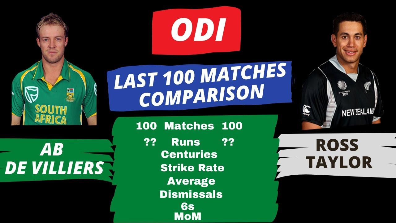 AB de Villiers Vs Ross Taylor| ODI| Last100 matches |Batting Comparison