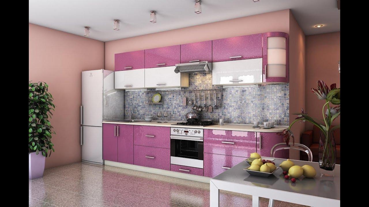 Кухня Гламур Лиловый металлик. Фабрика Гарант