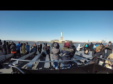 ⁴ᴷ Battery Park to Liberty Island, NYC Full Statue Cruises Ferry Ride