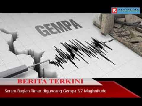 Seram Diguncang Gempa dengan kekuatan 5 7 Maghnitude hari ini, 3 Februari 2019