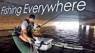 VentureTube:  Sea Eagle Kayak fishing (Lake Woodlands) with trolling motor