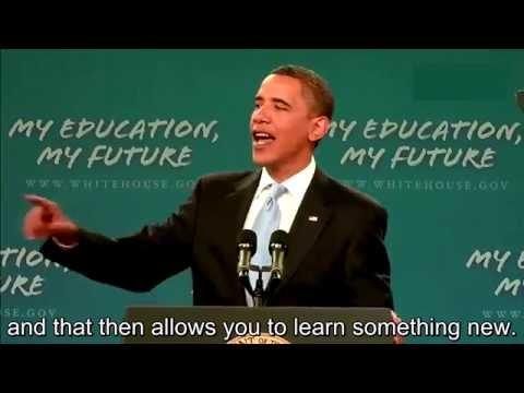 Obama Speeches - English subtitles   - Obama Addresses the American Student