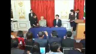 PM Modi & Japan PM Signing the Agreements