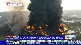 Pantauan Udara Kilang Minyak Balongan Terbakar di Indramayu