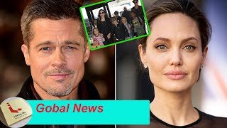 Hot news source: Brad Pitt collapses after seeing children in dispute because Angelina stubborn