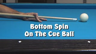 Pool Lessons: Bottom Spin On The Cue Ball & Giveaway Winner!!!!!!
