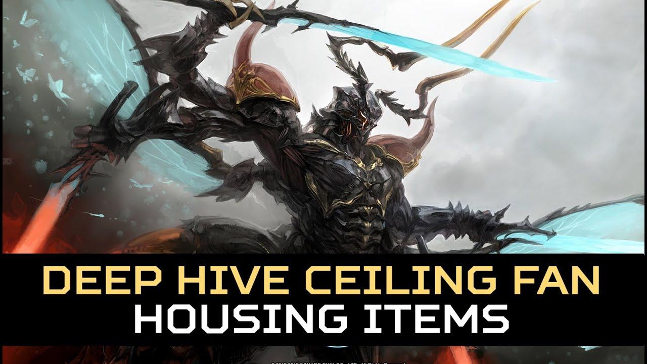 Charming FFXIV: Housing Items   Deep Hive Ceiling Fan   YouTube