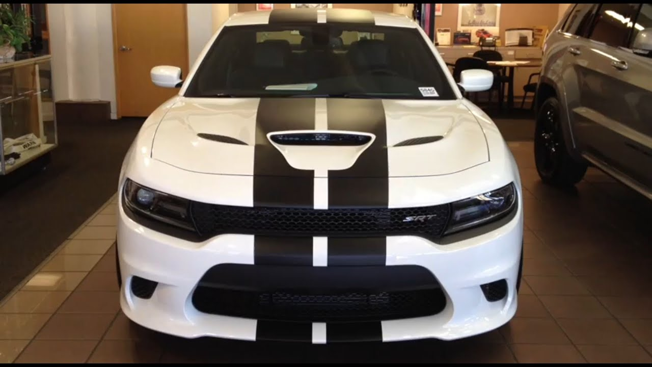 2016 Dodge Charger Hellcat With Stripes Youtube