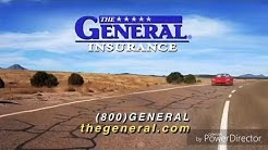The General car insurance commercial, the General 1 second after the commercial