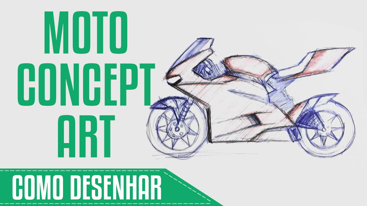 como desenhar moto youtube