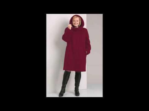 Пальто для полных девушек и женщин
