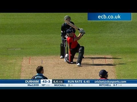 Massive six from Calum MacLeod! Worcestershire Rapids v Durham Jets