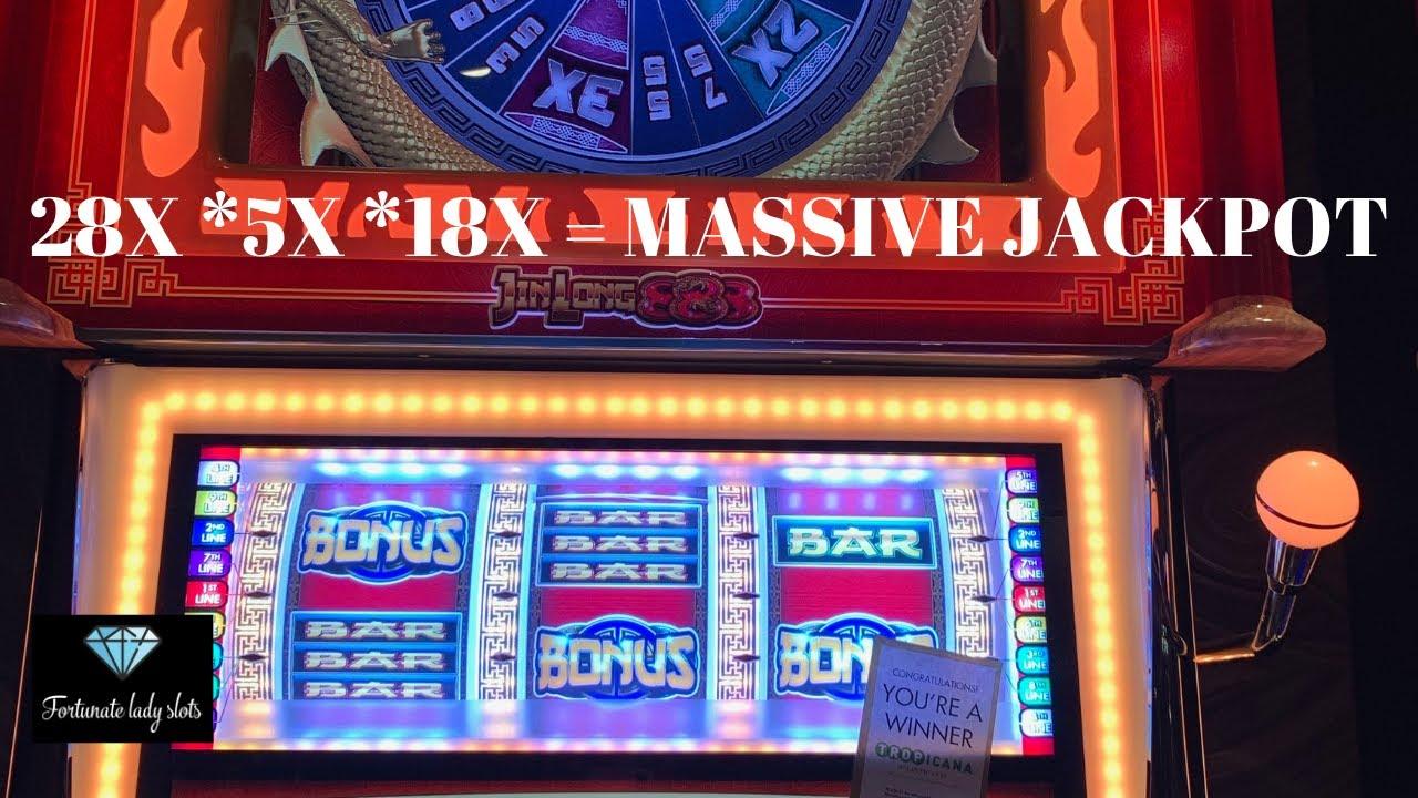 Jackpot High Limit Jinlong 888 Slot Machine 28x5x18 Massive
