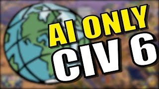 JAPAN VS AZTECS! | Civilization 6: AI Only Gameplay [Civ 6 Earth Map Mod] - Part 4