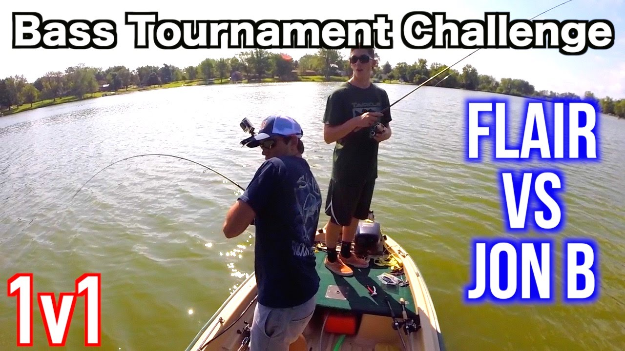 Bass fishing tournament 1v1 flair vs jon challenge youtube for Jon b fishing
