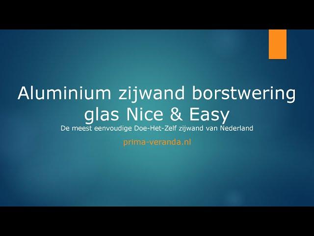 Opmeetinstructie aluminium zijwand borstwering glas Nice & Easy