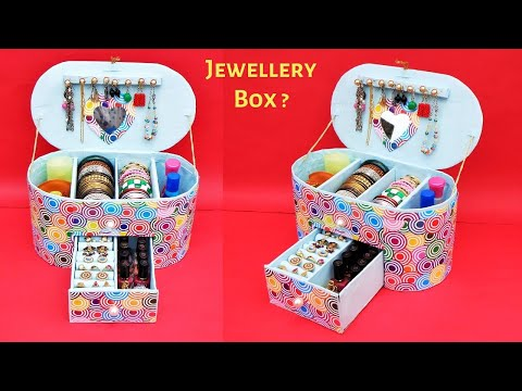 Jewellery Box making at Home with waste Cardboard   Best out of waste